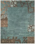 Feizy Mantra 8190F Teal Closeout Area Rug