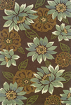 Oriental Weavers Utopia 84120 Blossom Brown Closeout Area Rug