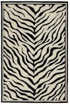 Oriental Weavers Utopia 84124 Excursion Black Zebra Closeout Area Rug