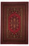 Couristan Gem 8567/1872 Multi Border Afghan Bordeaux Closeout Area Rug - Spring 2011