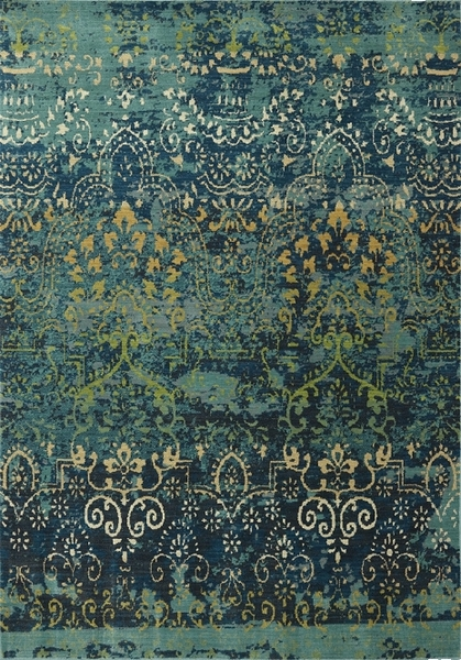 Home Color Blue Karastan Intermezzo 90162 60040 Vintage Ballroom Deep Teal Closeout Area Rug