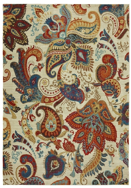 Paisley Area Rug Home Decor