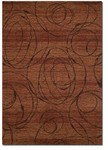 Couristan Ambassador 9340/0003 Radial Burnished Rust Closeout Area Rug - Spring 2011
