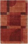 Couristan Pokhara 9374/0346 Aurora Red Miso Closeout Area Rug - Spring 2017
