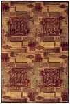 Couristan Pokhara 9376/0055 Revelation Burnished Earth Tones Closeout Area Rug - Spring 2011