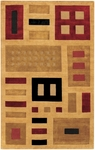 Couristan Pokhara 9379/0260 Union Square Medallion Gold Closeout Area Rug