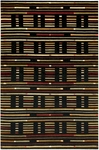 Couristan Pokhara 9381/0872 City Scape Black Closeout Area Rug