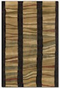 Couristan Pokhara 9383/2300 Autumn Dunes Chocolate/Tan Closeout Area Rug