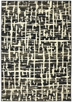 Karastan Panache 9663-90071 Grasscloth Black Closeout Area Rug