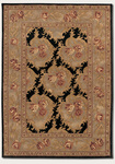 Couristan Pokhara 9925/1105 Floral Bouquet/Black-Natural Grey Closeout Area Rug