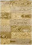 Couristan Pokhara 9931/1100 Wood Grain Gold/Beige Closeout Area Rug - Spring 2017