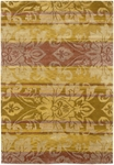 Couristan Pokhara 9937/0003 Abstract Damask Gold Closeout Area Rug - Spring 2011