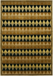 Couristan Pokhara 9940/2238 Diamond Trellis Ebony/Rust Closeout Area Rug - Spring 2010