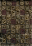 Couristan Pokhara 9950/0111 Serpentine Chocolate Closeout Area Rug - Spring 2011