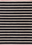 Jaipur Astor AKN16 Mariner Stripe Black & Pink Area Rug