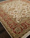 Jaipur Atlantis AL10 Taj Dark Ivory/Red Closeout Area Rug - Fall 2012