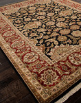 Jaipur Atlantis AL12 Taj Ebony & Red Closeout Area Rug