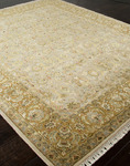 Jaipur Aurora AR02 Celeste Medium Ivory/Royal Gold Closeout Area Rug