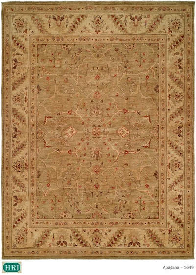 Hri apadan 1649 green cream closeout area rug for Green and cream rugs