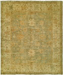 HRI Oushak Crown B-26 Grey/Gold Area Rug