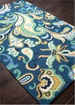 Jaipur Barcelona Indoor-Outdoor BA23 Calico Daphne & Turquoise Area Rug