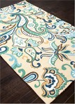 Jaipur Barcelona Indoor-Outdoor BA24 Calico Legion Blue & Greenlake Closeout Area Rug