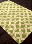 Jaipur Barcelona Indoor-Outdoor BA27 Barbells Greenery & Lime Sherbert Closeout Area Rug