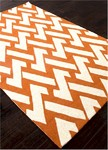 Jaipur Barcelona Indoor-Outdoor BA31 Interlocked Apricot Orange & Turtle Dove Closeout Area Rug