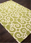 Jaipur Barcelona Indoor-Outdoor BA33 Ironwork Green Glow & Cloud Dancer Area Rug