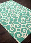 Jaipur Barcelona Indoor-Outdoor BA34 Ironwork Waterfall & Turtle Dove Area Rug