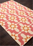 Jaipur Barcelona Indoor-Outdoor BA35 Moravian Pink Carnation & Orange Peel Closeout Area Rug