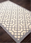 Jaipur Barcelona Indoor-Outdoor BA43 Grid Trellis Gray Violet & Turtle Dove Closeout Area Rug