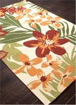 Jaipur Barcelona Indoor-Outdoor BA44 Troplicalia Orange Orchre & Copper Tan Closeout Area Rug