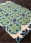 Jaipur Barcelona Indoor-Outdoor BA45 Malta Billiard & Estate Blue Area Rug