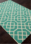 Jaipur Barcelona Indoor-Outdoor BA49 Belvedere Cloud Cream & Dynasty Green Closeout Area Rug
