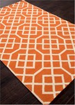 Jaipur Barcelona Indoor-Outdoor BA50 Belvedere Cloud Cream & Jeffa Orange Closeout Area Rug