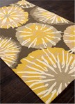 Jaipur Barcelona Indoor-Outdoor BA56 Starburst Grey/Yellow Area Rug