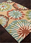 Jaipur Barcelona Indoor-Outdoor BA57 Starburst Chino Green & Deep Sea Closeout Area Rug