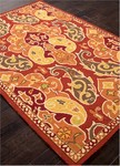 Jaipur Barcelona Indoor-Outdoor BA60 Hoja Burnt Orange & Ketchup Closeout Area Rug