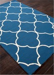 Jaipur Barcelona Indoor-Outdoor BA64 Sparten Moroccan Blue & Chino Green Area Rug