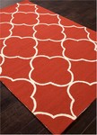 Jaipur Barcelona Indoor-Outdoor BA66 Sparten Red Ochre & Chinco Green Closeout Area Rug