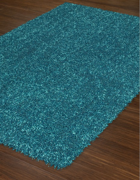 Dalyn bright lights bg69 teal closeout area rug spring 2017 for Bright blue area rug