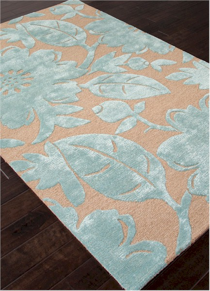 Jaipur Blue Bl119 Bouquet Tan Light Turquoise Closeout