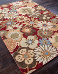 Jaipur Blue BL21 Blossom Red/Red Closeout Area Rug - Fall 2013