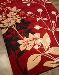 Jaipur Blue BL24 Wildflower Red/Red Closeout Area Rug