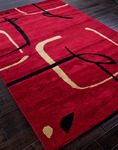 Jaipur Blue BL26 Scribble Down Ribbon Red/Ribbon Red Closeout Area Rug - Fall 2013