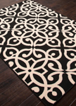 Jaipur Bloom BLO12 Scrolled Black Ink & Birch Area Rug