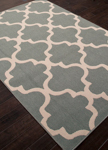 Jaipur Bloom BLO28 Stamped Blue Surf & Birch Area Rug