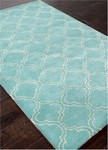 Jaipur Baroque BQ23 Hampton Dusty Turquoise & Bright White Area Rug