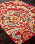 Jaipur Brio BR29 Brocade Baked Apple & Mellow Yellow Area Rug